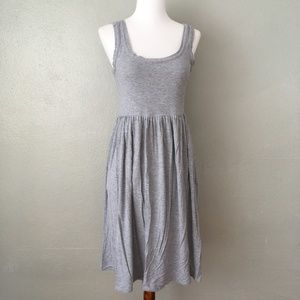 J. Crew Jersey Knit Tank Dress Grey